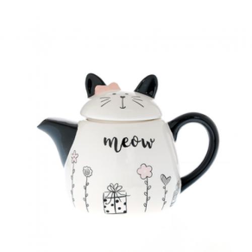 Ceainic ceramic, model pisica