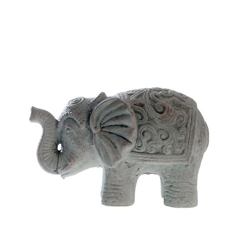 Statueta, elefant cu trompa in sus